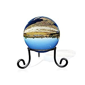 EcoRise Black Iron Ball Stand - Gazing Globe Stand for Balls, Sphere Holder Wrought Iron Display Stand, Crystal Ball Stand, Glass Bowl Ring Metal Egg Stands