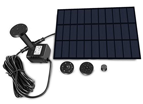 Sunlitec Solar Fountain with Panel Water Pump for Bird Bath Solar Panel Kit Outdoor Fountain for...