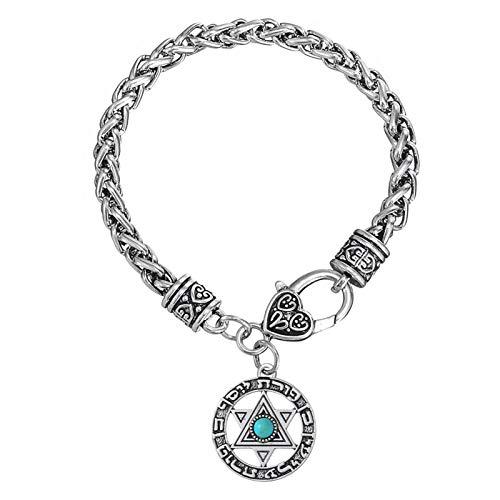 LH&BD Anzuelo de la Estrella de la joyería del Encanto de Las Pulseras de Estrella judíos brazaletes de la Mujer joyería