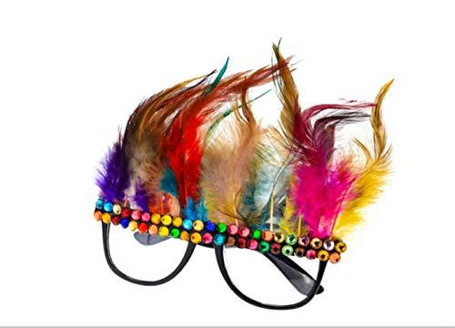 nobrand Schutzglas Lustige Verkleidung Brille, Halloween Neuheit Feder Gläser, Selfie Abendkleid Sonnenbrillen for Erwachsene Und Kinder (Color : As Shown)