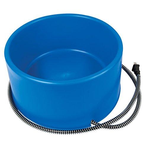 Farm Innovators P-60B 60-Watt Premium Heated Pet Dog & Cat Water Bowl Blue