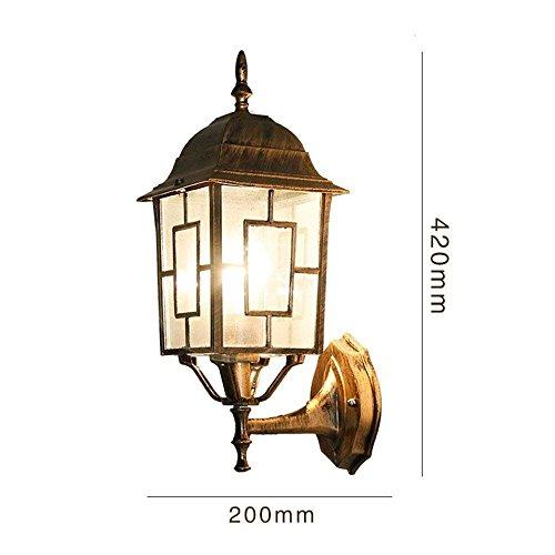 DSJ Bohemian wandlamp, buitenlantaarn, creatieve ville-lamp, pastelbak, buitendeur, waterdichte wandlamp, AAA