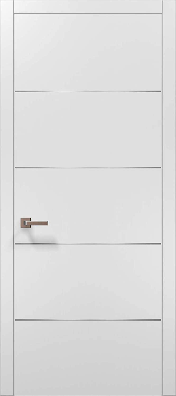 Modern White Door Brand new 30x80 with 0020 Planum Matte Strips W Max 65% OFF