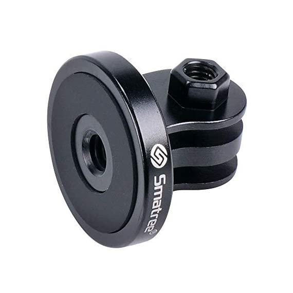 Smatree 4-in-1 Aluminum Thumbscrew Accessories Tripod Mount Adapter Compatible for Gopro Max/Hero 9/8/7/6/5/4/3+/3/2/1… 7 Aluminum Thumbscrew, High quality stainless Steel Acorn Nut. The length of Thumbscrew is about 2.2 inches. A small rubber ring is good for preventing abrasion. It is not essential for everyone, so put them away when you don't need it. Made of high quality Aluminum with a Threaded End, replace the plastic tripod mount. Tripod mount for attaching your quick-release sport camera to a standard 1/4-20 tripod stud. Built-in threaded end eliminating the need for a nut, convenience and no worry about losing the nut.