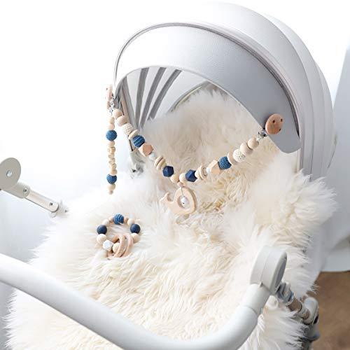 Mamimami Home 3PC Kid Lit Berceau Landau bébé dentition sucette Clips Arche de jeu poussette Bébé Suspendus Hochets Colle à dents de bois