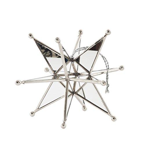 Saro LifeStyle XM679.S Star Ornament Set, Silver, 4.75-Inch
