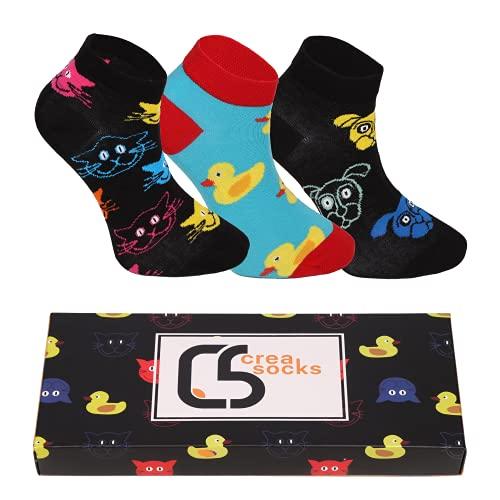 CREA SOCKS Calcetines afrutados, calcetines divertidos, calcetines de regalo, calcetines para hombre y mujer., CS_Patik_Kok_M, L