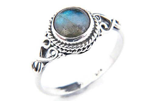 Anello argento 925 con Labradorite 1 (No: MRI 24), dimensioni anello:52 mm/Ø 16.5 mm