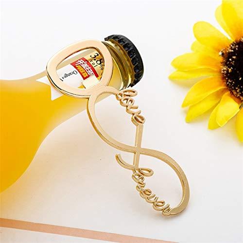 HXXgiefg Llavero del abridor de la botella de cerveza Anillo de llavero para regalo de boda Exquisito y hermoso Favor de la fiesta Herramienta de la cocina
