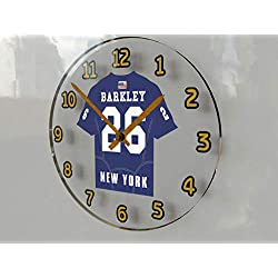 FanPlastic SAQUON Barkley 26 New York Giants Wall Clock - National Football League Legends Edition !!