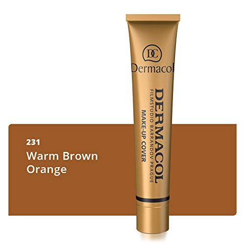 Dermacol Deckendes Make-up Cover für Gesicht und Hals - Wasserfeste Foundation mit LSF 30 für einen makellosen Teint - 231, 30g,