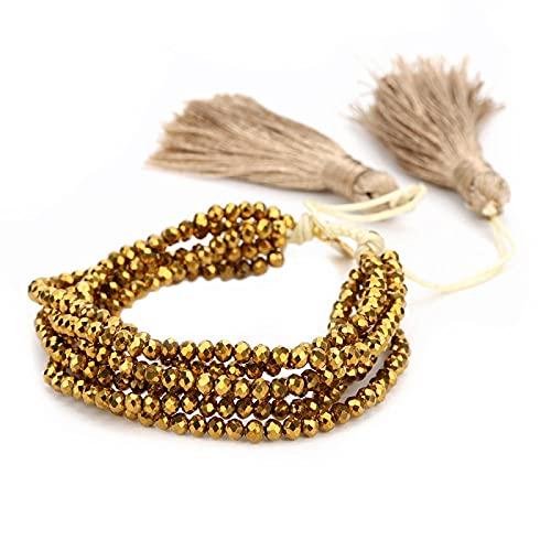yuge Pulsera, Pulsera con borlas, joyería de Cuentas de Cristal a la Moda para Mujer, joyería de la Amistad Tejida con Estrella Bohemia CB180006A
