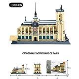 Haut-lieu touristique modèle Building World Architecture Kit cadeau for les enfants et les adultes, jouet bloc de construction en plastique, la cathédrale Notre Dame, l'Arc de Triomphe de Paris, Tour