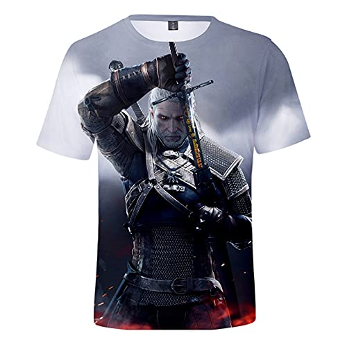YJXDBABY-God of War-Unisex 3D Printed Short Sleeve T-Shirt,Summer Men's T-Shirts Casual Graphic,Relaxed Easy Round Neck T-Shirt Top,Child Breathable Tees Top-L