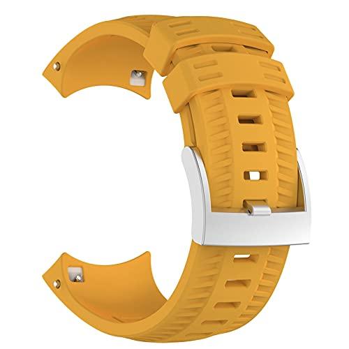ZLK Ver Correas en Cinco Colores para Elegir, Adecuado para Suunto 9 Baro, GPS Sports Watch Band (Watch no Incluyen) (Color : Amarillo)