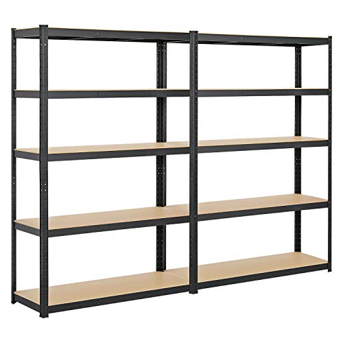 Yaheetech Heavy Duty Shelving, 5-Shelf Garage Shelves Commercial Storage Racks Steel Adjustable Shelving Units Utility Rack for Home Office, 73.5