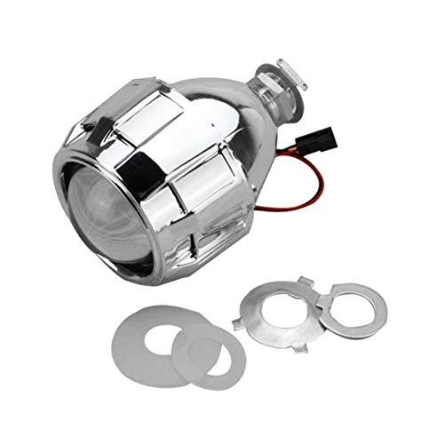 Candybarbar 2.5 Pulgadas Xenon Mini Bi-Xenon HID Clear Lente del proyector Cubierta de la Cubierta Faros Faro Personalizado H1 H4 H7 Plata