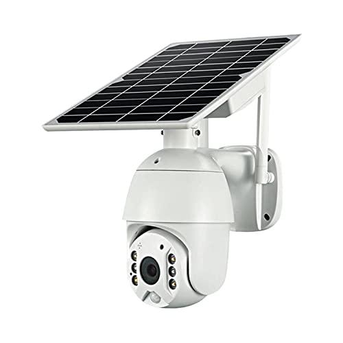 AMIAO Camara De Vigilancia WiFi Exterior con 18650mAh Batería 1080P PTZ Cámara De Seguridad Exterior Solar Sin Cables 355°Pan & 120°Tilt Detección De Movimiento PIR Visión Nocturna En Color