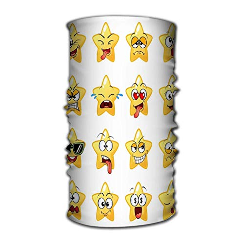 Quintion Robeson Headwrap respirant Cartoon Star face Character Cute Emoticons Cartoon Star face Character Cute