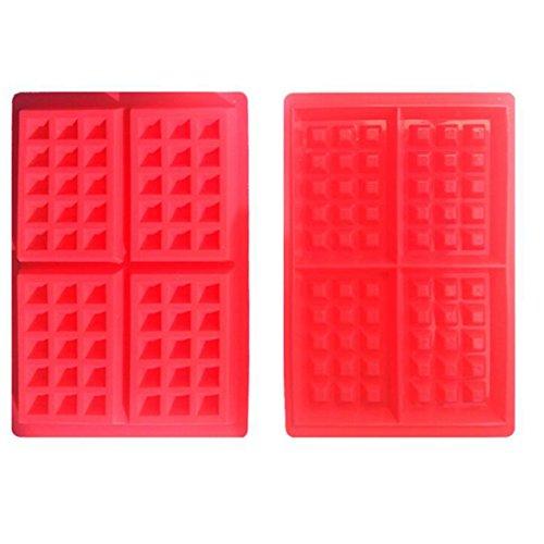 Seguridad 4-cavity molde gofres para tarta Chocolate sart¨¦n de silicona molde Herramientas de Cocina