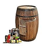 XJJUN Barriles De Vino, Armario De Barril Decorativo para Bodega Estante De Vino De Madera Barril Bodega Barril De Whisky Armario para Bebidas, para Terraza De Bar (Color : Brown, Size : 70x55cm)
