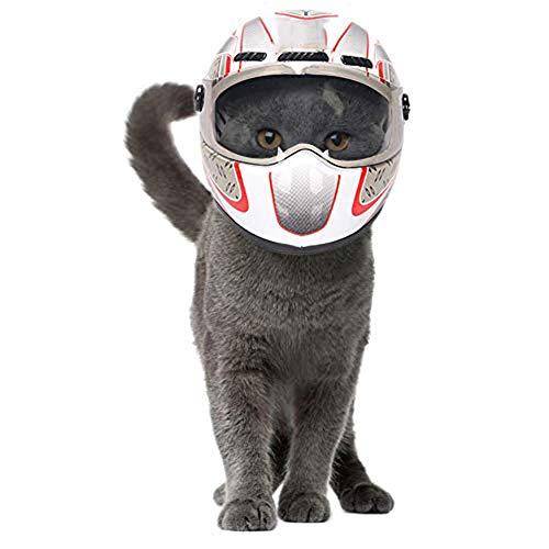 Dongbin Hübsche Katze Hund Mini Helme, Kunststoff Hut Für Motorräder Foto Requisiten Haustier Zubehör Cool Outdoor Capscartoon-Trompete,Helmet1