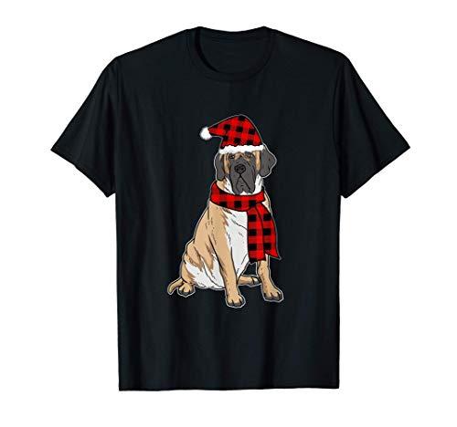 Divertido Mastín Inglés Navidad Regalo Perros Camiseta