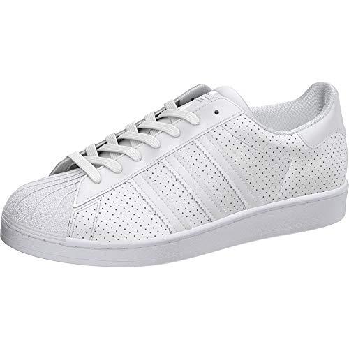 adidas Originals Men's Superstar Shoes Sneaker, White/White/White, 3.5