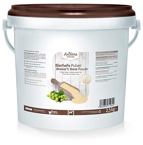 AniForte Brewers Yeast 2500g Pure for Dogs, Cats and Horse - Vitamin B, E & H for Pets and Animals - For Healthy Skin and Shiny Coats