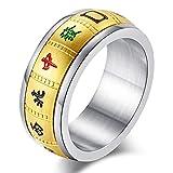 083基地 メンズ リング チタン【国士無双】幸運指輪 麻雀 マージャン 回転可能 9mm 1.7g ゴールドメッキ サイズ23号
