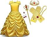 Little Kid Beauty Gown Princess Belle Costume Halloween...