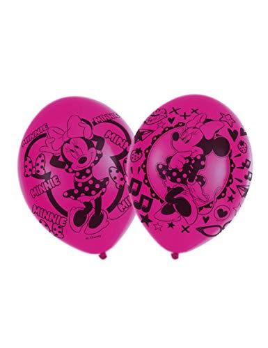 COOLMP Lot de 3 - 6 Ballons en Latex Minnie Mouse 27,5 cm - Taille Unique - Décoration et Accessoires de fête, Animation, Anniversaire, Mariage, Petit Jouet, Ballon