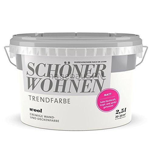 2,5L Schöner Wohnen - Trend Wandfarbe matt Wool