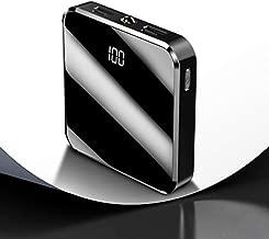 XuBa 20000mAh Portable Mini Power Bank Mirror Screen Digital Disply Poverbank External Battery Pack Powerbank for Smart Mobile Phone (Black)