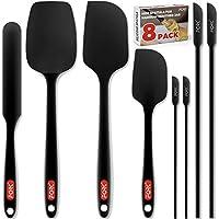 Forc 8-Set include 4 Mini Silicone Spatulas for Nonstick Cookware