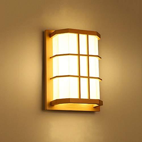 Lyuez Houten energiebesparende wandlamp Log wandlamp LED wandlamp kleine plafondlamp gang kamer slaapkamer bedlampje zonder lichtbron