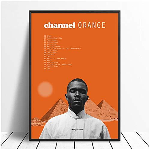 Frank Ocean - Channel Orange Album Pop Music cover Music Star Poster Canvas Prints Arte de pared para sala de estar Decoración del hogar -60x80cm Sin marco