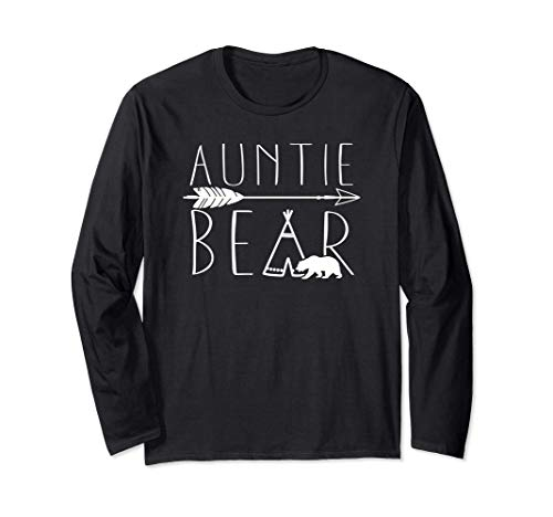 Auntie Bear Tipi Tent Lindo regalo para tía Manga Larga