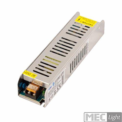 LED Schaltnetzteil Slim Trafo 12V DC 10A 120W, Gleichspannung, CE, Selv, Schutzarten: Kurzschluss-, Überspannung-, Übertemperatur-, Überleistungsschutz. Für LED Produkte 12V DC