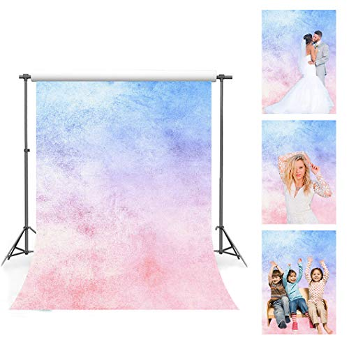 Marble Texure Photography Backdrop, 5x7ft Soft Cotton, Blue Purple Pink Gradient Pattern Backgrounds, Weddings Party Decor Supplies, Portrait Photo Shooting Props FS007