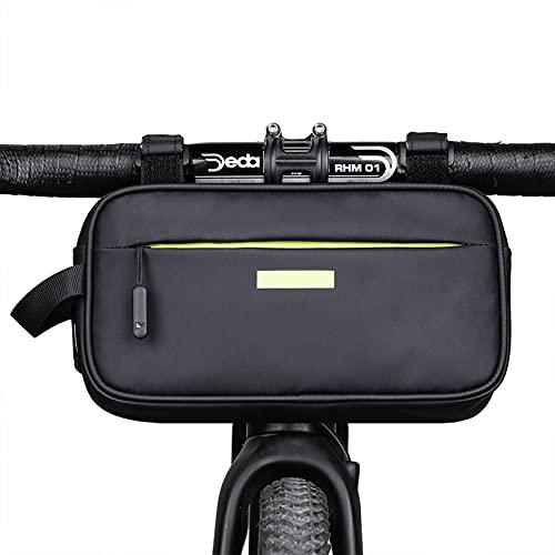 UBORSE Fahrradlenker Tasche Fahrrad Front Frame Bag Tube Bag Multifunktionale Hüfttasche Brusttasche