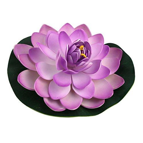 sourcing map Aquarium Flottant Artificiel sous Usine pour Lotus Fleur Ornement Violet Vert