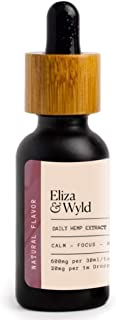 Eliza & Wyld | Daily Hemp + MCT Tincture | Multi-use Soothing & Calming oil (1 Floz) | Made in USA, Vegan