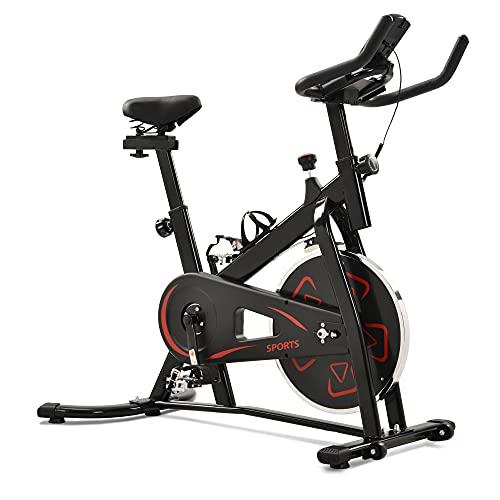 Bicicleta de velocidad con pantalla LCD y soporte para smartphone, ergómetro, bicicleta interior, ajuste de resistencia continuo.