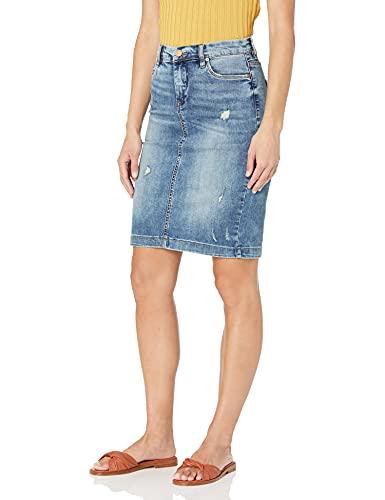 [BLANKNYC] Women's Distressed Pencil Skirt, Block Party, 26