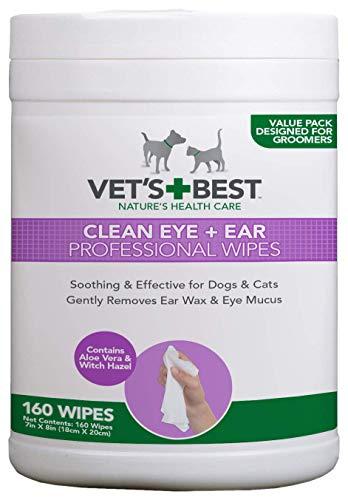 Vet\'s Best Clean Eye & Ear Professional Wipes for Dogs & Cats - 160 Tücher