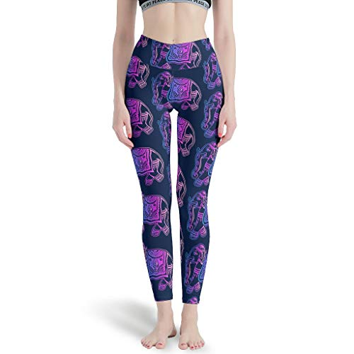 JEFFERS Womens hoge taille yoga broek olifant dier zachte yoga legging voor meisjes