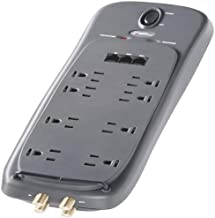 Power Sentry S10038400602/17 Home Theater 12 Outlet Surge Protector (Gray) (Discontinued by Manufacturer)