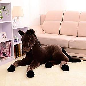 siqiwl Peluche Simulación Animal 70x40 Cm Caballo Peluche Juguete Propenso Caballo Muñeca para Regalo De Cumpleaños