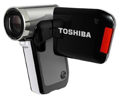 Toshiba Camileo P30 HD-Camcorder (5 Megapixel, 5-Fach Opt. Zoom, 6,4 cm (2,5 Zoll) Display, Bildstabilisator) schwarz